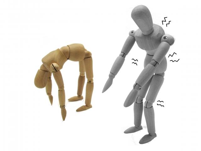 背骨が硬い人